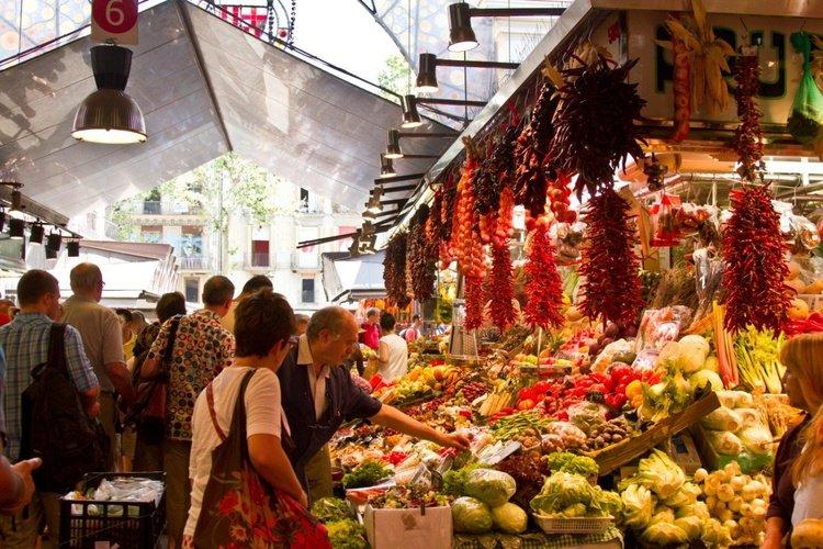 Boqueria market Ciutat Vella Apartaments Barcelona