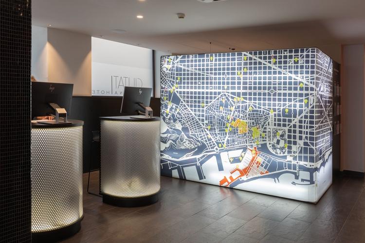 Reception ciutat barcelona hotel